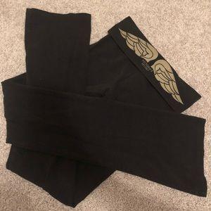 VS Gold Glitter Wings Yoga Pants